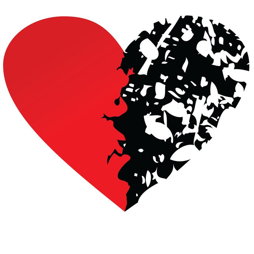 Kærlighed og knuste hjerter